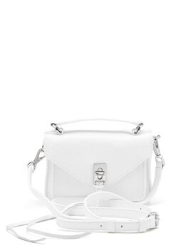 Rebecca Minkoff Darren Group Leather Bag 129 White/Silver Bubbleroom.dk