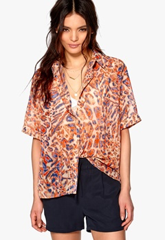 D.Brand Visby Short Sleeve Shirt Leo Print Bubbleroom.dk