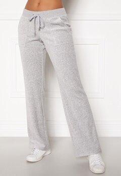 Juicy Couture Del Ray Classic Velour Pant Light Grey Marl Bubbleroom.dk
