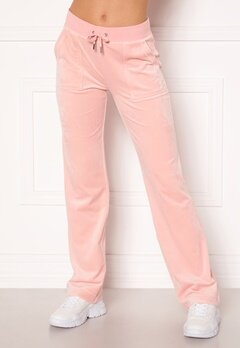 Juicy Couture Del Ray Classic Velour Pant Pale Pink Bubbleroom.dk