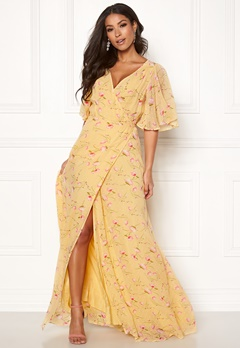 byTiMo Delicate Semi Wrap Dress 840 Yellow Poppy Bubbleroom.dk