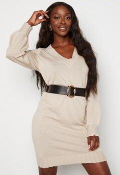 OBJECT Dilli L/S Knit Dress Silver gray melange Bubbleroom.dk