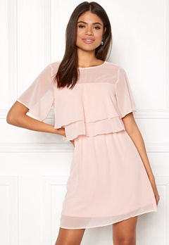 VERO MODA Dora SS Short Dress Sepia Rose Bubbleroom.dk
