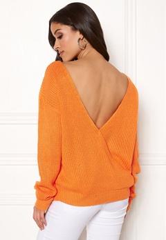 Rut & Circle Doris Back Wrap Knit Orange Bubbleroom.dk