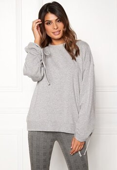 Dr. Denim Aisie Sweater Light Grey Mix Bubbleroom.dk