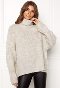 Dr. Denim Edlyn Knit Light Grey Mix Bubbleroom.dk