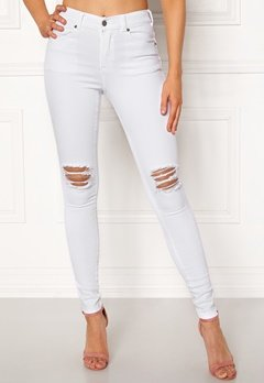 Dr. Denim Lexy White Ripped Knees Bubbleroom.dk