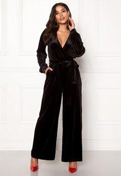 Dr. Denim Lucida Jumpsuit Black Velvet Bubbleroom.dk