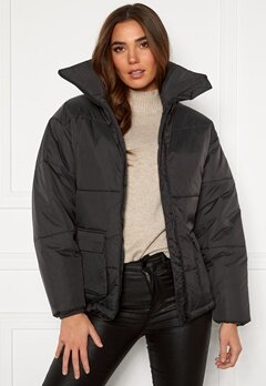 Dr. Denim Whitney Puffer Jacket B85 Graphite Bubbleroom.dk