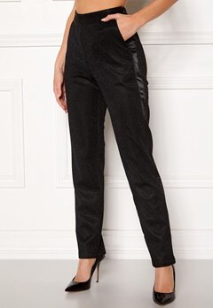DRY LAKE Abigail Trousers 008 Black Glitter Bubbleroom.dk