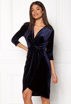 DRY LAKE Angelina Dress Navy Velvet Bubbleroom.dk