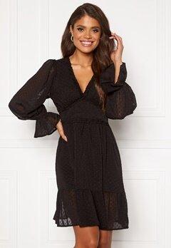 DRY LAKE Cassandra Dress 275 Black Chiffon Ja Bubbleroom.dk