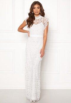 DRY LAKE Irma Long Dress White Crochet Lace Bubbleroom.dk