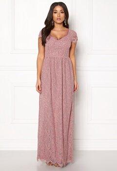 DRY LAKE Kayla Long Dress Dusty Rose Bubbleroom.dk