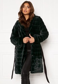 DRY LAKE Mini Bubble Faux Fur Coat 324 Green Faux Fur Bubbleroom.dk