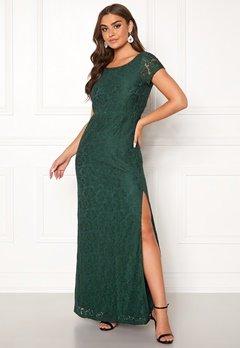 DRY LAKE Mira Long Dress 325 Emerald Green Bubbleroom.dk