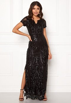 DRY LAKE Miramis Long Dress 001 Black Bubbleroom.dk