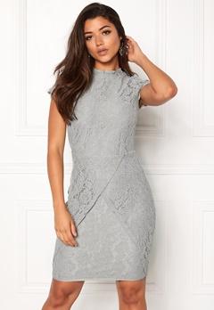 DRY LAKE Mist Overlap Dress Grey lace Bubbleroom.dk