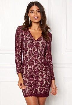 DRY LAKE Mythology Dress Burgundy Lace Bubbleroom.dk