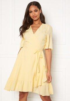 DRY LAKE Nanny Dress 720 Yellow Jacquard Bubbleroom.dk