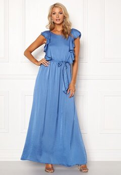 DRY LAKE Rivera Long Dress Royal Blue Satin Bubbleroom.dk