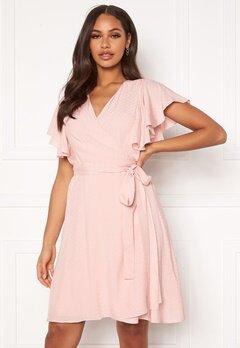 DRY LAKE Sheila Dress 525 Pink Jacquard Bubbleroom.dk