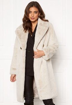 DRY LAKE Smoothie Long Jacket 125 Offwhite Faux F Bubbleroom.dk