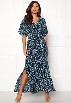 DRY LAKE Valentina Long Dress Cerise Print Bubbleroom.dk