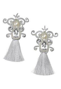 WOS Dynasty Earrings Silverfärgad Bubbleroom.dk
