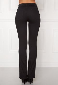 Happy Holly Elwira bootcut jeggings Black denim Bubbleroom.dk