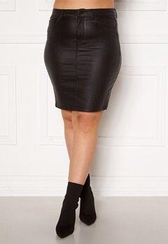 Only Carmakoma Emilia Rock Coated Skirt Black Bubbleroom.dk