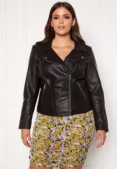 Only Carmakoma Emmy Faux Leather Biker Black Bubbleroom.dk