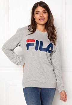 FILA Basic Classic Logo Sweat Light Grey Bubbleroom.dk