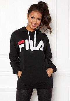FILA Classic Logo Hood Kangaro Black Bubbleroom.dk