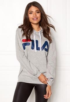 FILA Classic Logo Hood Kangaro Light Grey Melange Bubbleroom.dk