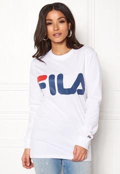 FILA Classic Logo Long Sleeve Bright White Bubbleroom.dk