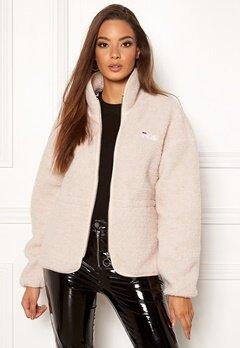FILA Hajar Sherpa Fleece Jacket A032 whitegap gray Bubbleroom.dk