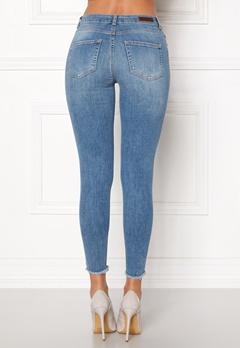 Pieces Five Delly B186 MW Jeans Light Blue Denim Bubbleroom.dk