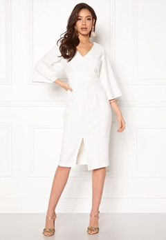 Closet London Flared Pencil Dress White Bubbleroom.dk