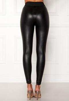 ONLY Flirt PU Leggings Ankel Black Bubbleroom.dk