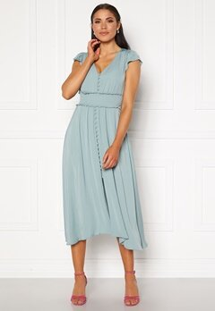 FOREVER NEW Amayah Button Front Midi Dress Jade Stone Bubbleroom.dk