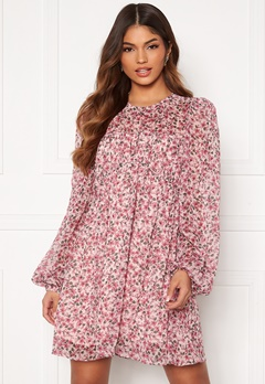 FOREVER NEW Michelle Ruched Tunic Blush Floral Bubbleroom.dk