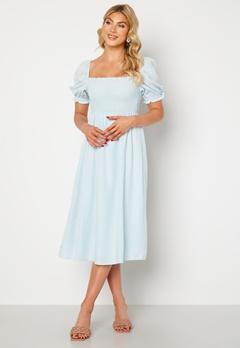 FOREVER NEW Puff Sleeve Dress Eggshell Blue bubbleroom.dk