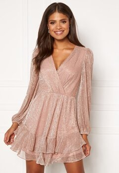 FOREVER NEW Sonita Plisse Skater Dress Blush Bubbleroom.dk