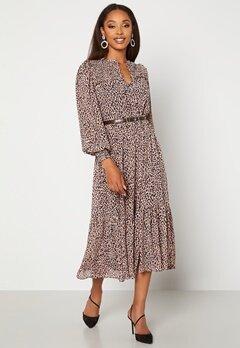 FOREVER NEW Tammy Tiered Midi Dress Caramel Leopard bubbleroom.dk