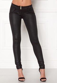 FREDDY Skinny Shaping RW Legging Coated Black New Sty Bubbleroom.dk