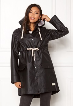 Odd Molly Free Range Rainjacket Almost Black Bubbleroom.dk