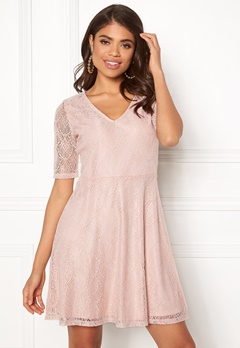 VILA Frej 2/4 Short Dress Peach Blush Bubbleroom.dk