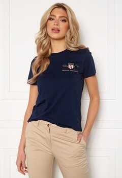 GANT Archive Shield SS T- Shirt 433 Evening Blue Bubbleroom.dk