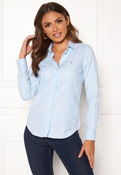 GANT Stretch Oxford Solid 455 Light Blue Bubbleroom.dk